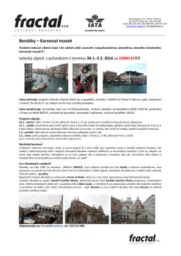 Benátky – Karneval masek