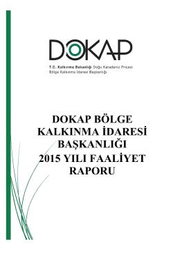 2015 DOKAP Faaliyet Raporu
