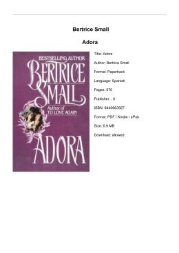 Bertrice Small Adora