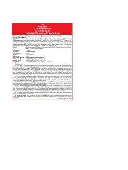 tc ankara 5. icra dairesi taşınmazın açık artırma ilanı