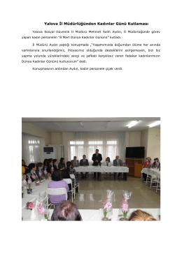 Yalova İl Müdürlüğünden Kadınlar Günü Kutlaması