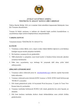 AVUKAT ALİ GÜNDAY ANISINA - Türkiye Barolar Birliği