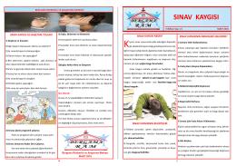 sınav kaygısı - Bergama Rehberlik ve Araştırma Merkezi