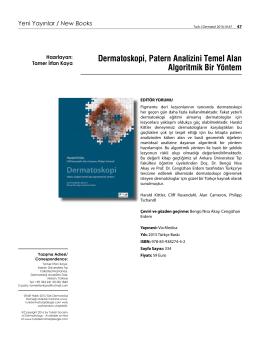 Dermatoskopi, Patern Analizini Temel Alan Algoritmik Bir Yöntem