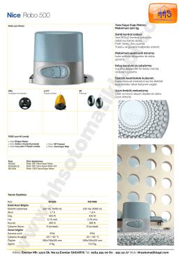 Nice Robo Serisi - HHS Otomatik Kapı ve Panjur Sistemleri