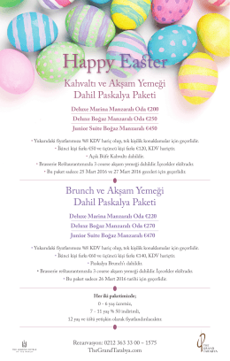Happy Easter - The Grand Tarabya