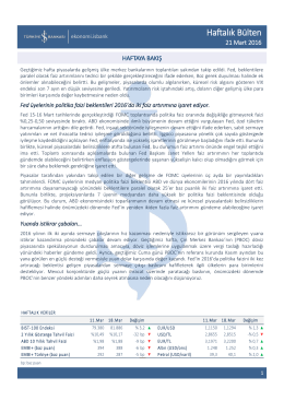 Haftalık Bülten - Türkiye İş Bankası A.Ş.