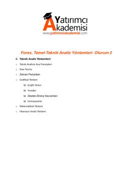 Forex ve Temel-Teknik Analiz Yöntemleri: Oturum 2