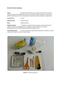 Mühendislik Uygulamaları (Kendi Elektrik Süpürgemi Yapıyorum)