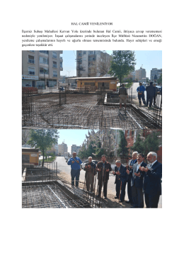 Hal Camii Yenileniyor