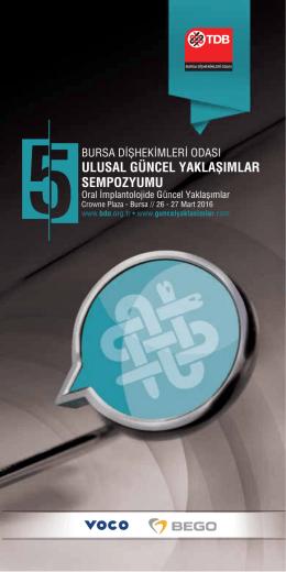 Kayıt Formu İndir - Bursa Diş Hekimleri Odası Ulusal Güncel