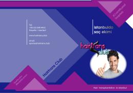 Broşür indir - Hair transplant istanbul