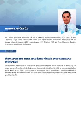 Mehmet Ali ÖKSÜZ