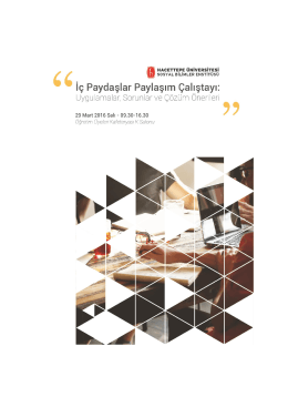programı - Hacettepe Üniversitesi Sosyal Bilimler Enstitüsü