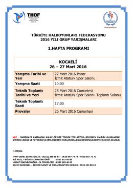 kocaeli grup yarışması programı 26