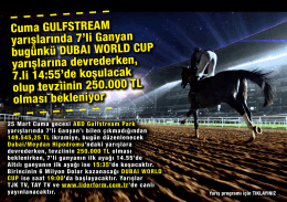 Cuma GULFSTREAM yarışlarında 7`li Ganyan bugünkü