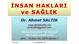 ınsan_hakları_ve_saglık - Prof. Dr. Ahmet SALTIK