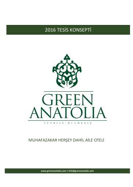 Otelimizin 2016 Yaz Sezonu Konsept Bilgileri için Lütfen Buraya
