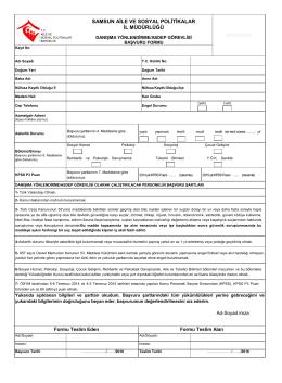 ASDEP FORMM - Samsun Aile ve Sosyal Politikalar İl Müdürlüğü