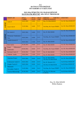 tc batman üniversitesi fen-edebiyat fakültesi 2015
