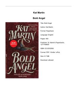 Kat Martin Bold Angel