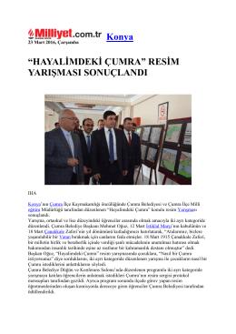 "Konya ""HAYALİMDEKİ ÇUMRA"" RESİM YARIŞMASI SONUÇLANDI"