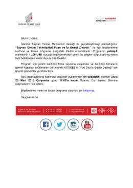 tayvan üretim teknolojileri fuarı ve iş gezisi ziyareti hk.