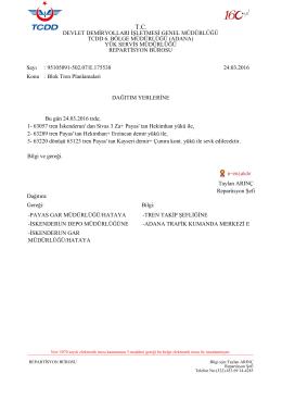 24.03.2016 - Devlet Demir Yollari 6.Bölge