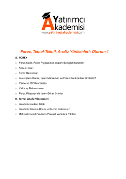 Forex ve Temel-Teknik Analiz Yöntemleri: Oturum 1