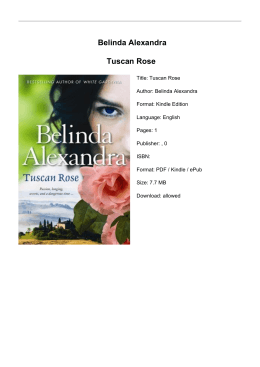Belinda Alexandra Tuscan Rose