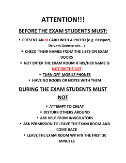before the exam students must