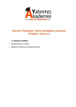 Yatırımcı Psikolojisi, Yatırım Stratejileri ve