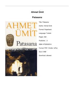 Ahmet Ümit Patasana