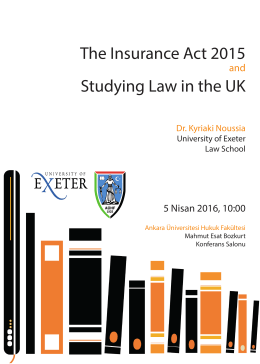 The Insurance Act 2015 Study ng Law n the UK