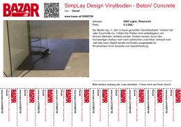 SimpLay Design Vinylboden - Beton/ Concrete Optik