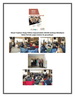 Ulusal Yaşlılara Saygı Haftası kapsamındaki etkinlik Çankaya