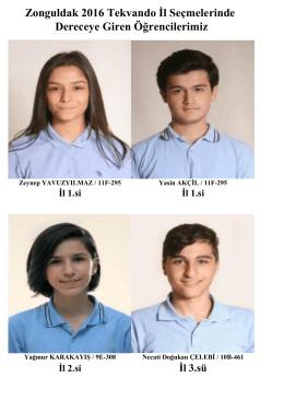 Zonguldak 2016 Tekvando İl Seçmelerinde Dereceye Giren