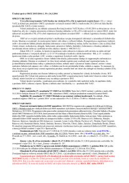 Úradná správa č.39 - Oblastný futbalový zväz Michalovce