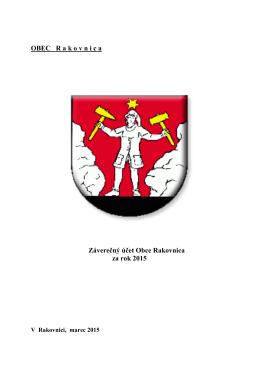 záverečný účet obce Rakovnica