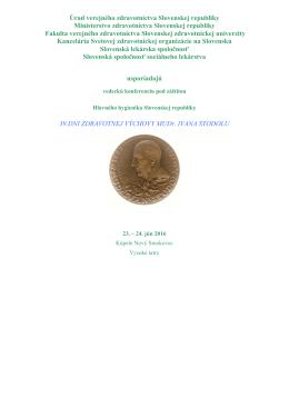Prvá informácia v súvislosti s organizovaním vedeckej konferencie