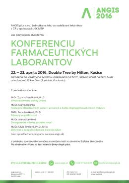 konferenciu farmaceutických laborantov