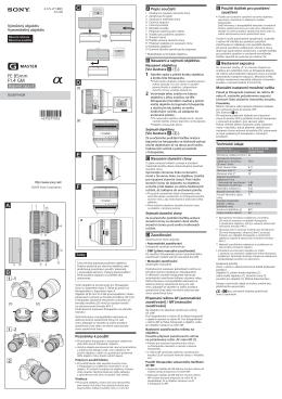 Page 1 a –1 (1) (2) –2 (1) (2) 1 2 3 45 6 7 8 9 10 11 13 12 4 Česky