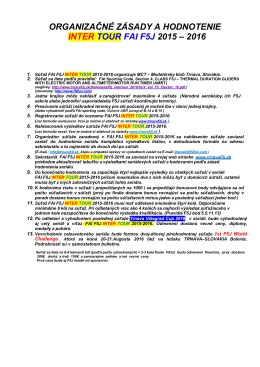 organizačné zásady a hodnotenie inter tour fai f5j 2015 – 2016