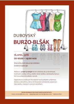 Dubovský burzoblšák 2016