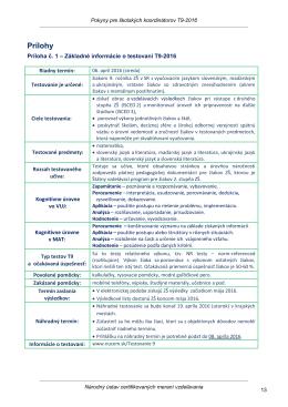 Základné informácie o testovaní T9-2016
