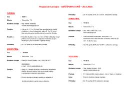 Propozície turnajov - DEŇ ŠPORTU UPJŠ – 20.4.2016