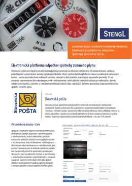 Elektronická platforma odpočtov spotreby zemného plynu