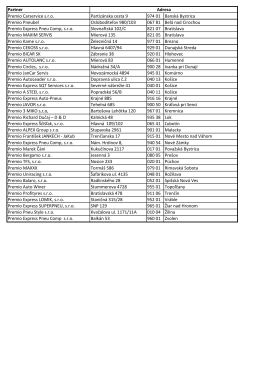 Zoznam partnerov