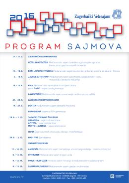 program sajmova - Zagrebački Velesajam