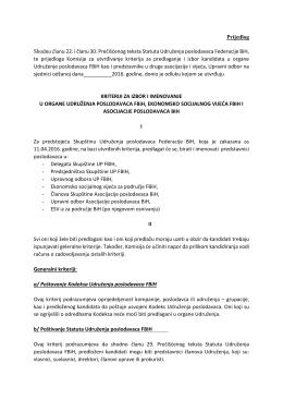 Prijedlog Shodno članu 22. i članu 30. Prečišćenog teksta Statuta